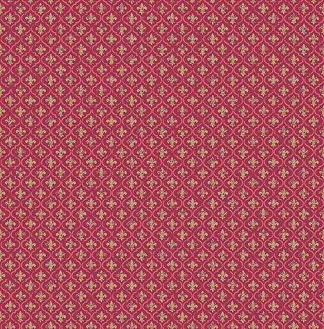 Petite Fleur De Lis Wallpaper In Burgundy Fs50501 From