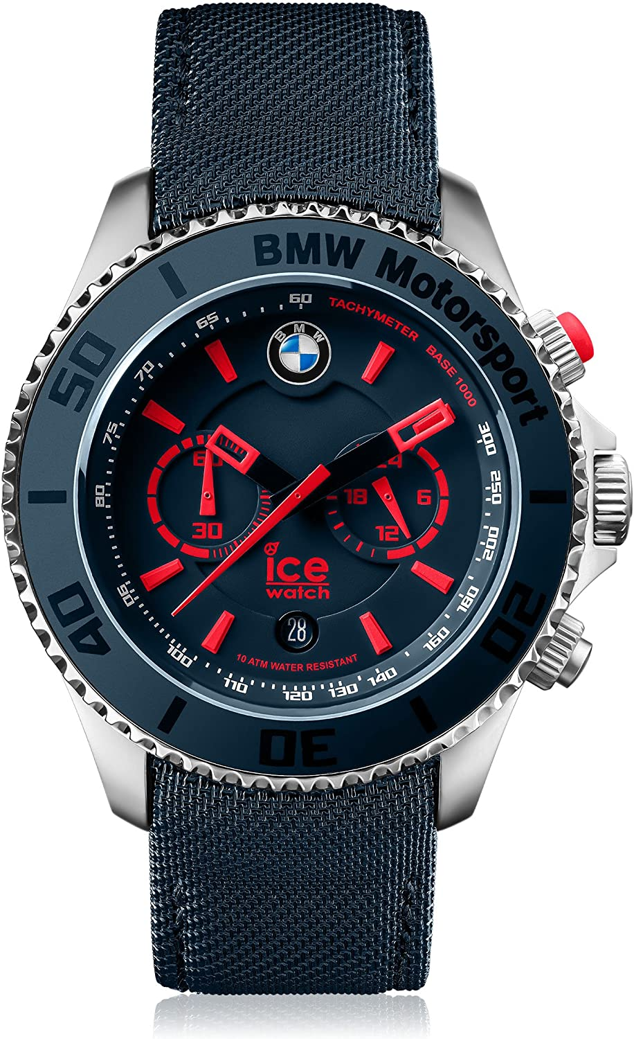 Ice-Watch – BMW Motorsport Steel Blue Red – Men s Wristwatch with Leather Strap