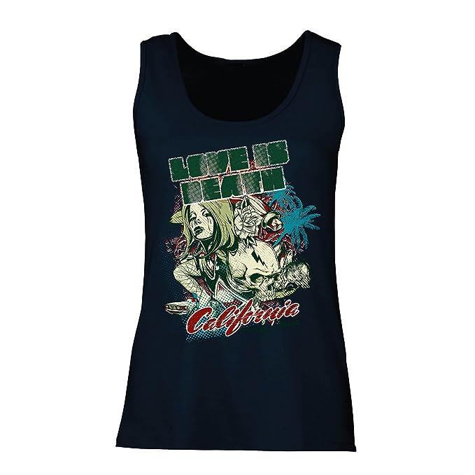 lepni.me Camisetas sin Mangas para Mujer Love is Dead - California Love, CA Vintage tee, Cali Style: Amazon.es: Ropa y accesorios