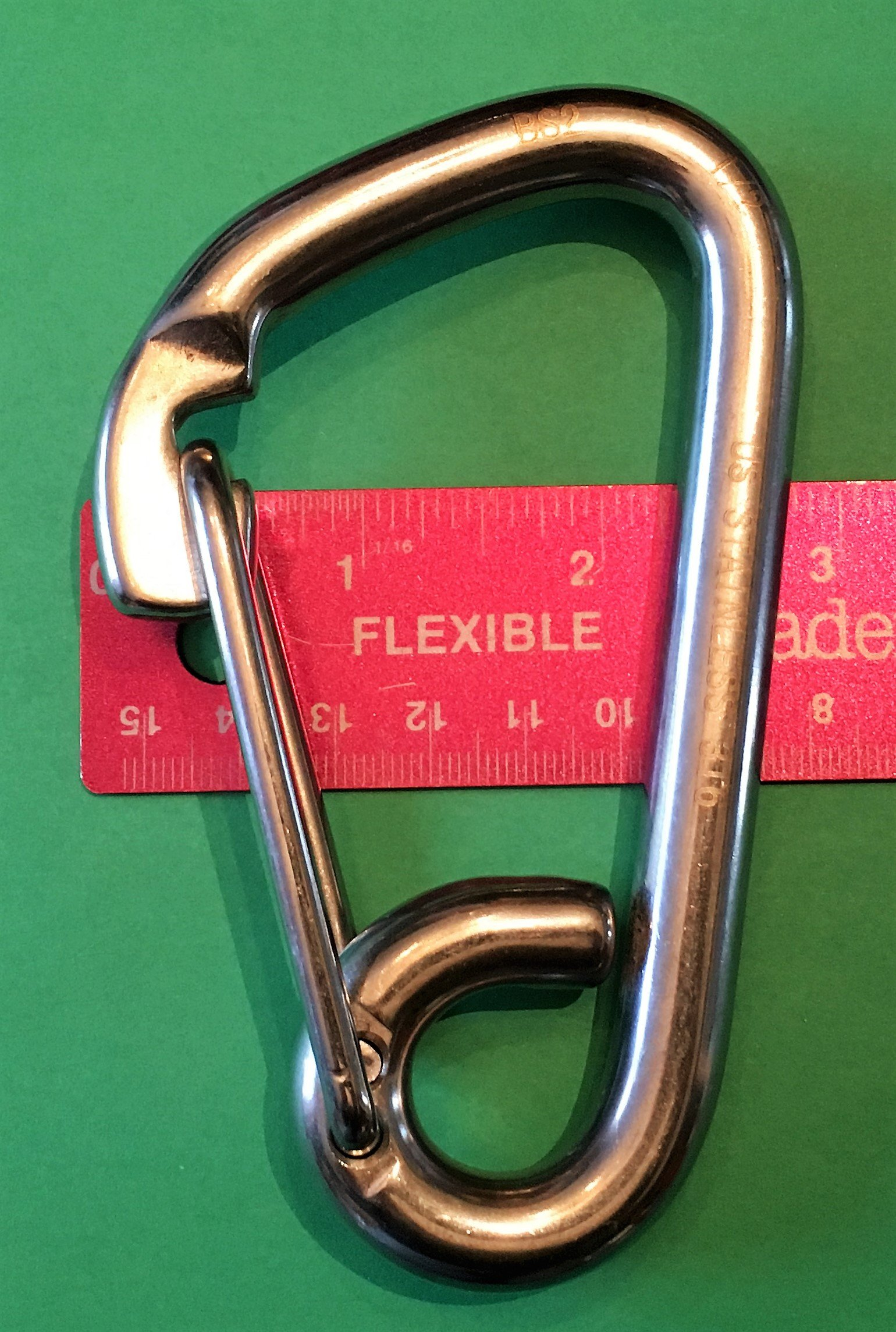 Stainless Steel 316 Spring Hook Carabiner 1/2'' (12mm) Marine Grade Safety Clip by US Stainless (Image #3)