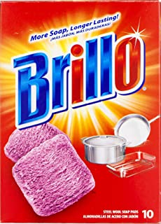 product image for Brillo | Steel Wool Soap Pads | Long Lasting, Original Scent (Red) | 1 Pack (10ct)