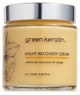 Green Keratin Crema Hidratante de Noche || Coenzima Q10, Ácido hialurónico, Manteca de