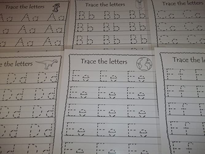 Amazon 26 Preschool Dry Erase Alphabet Tracing Worksheets 85