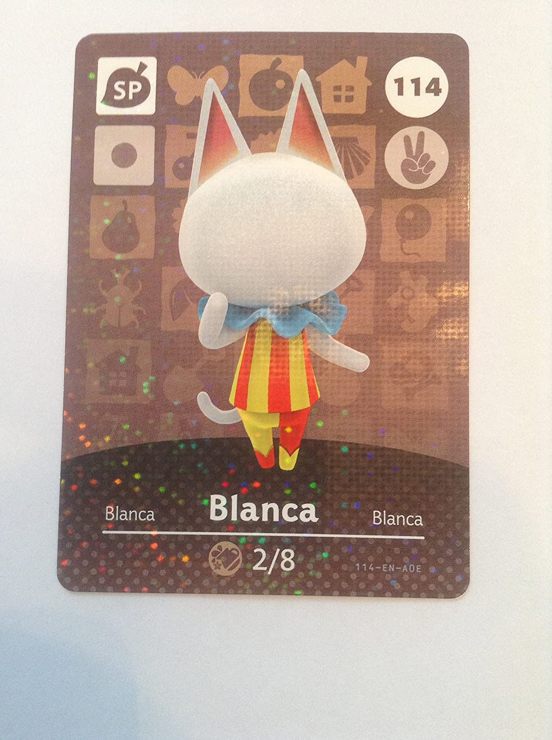 Nintendo Animal Crossing Happy Home Designer Amiibo Card Blanca 114/200 USA Version