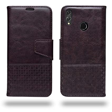 premium selection 4447e 08625 Ceego Honor 8X Flip Cover - Luxuria Compact Flip Case for Huawei Honor 8X  [with Credit Card Slot] (Chestnut Brown)