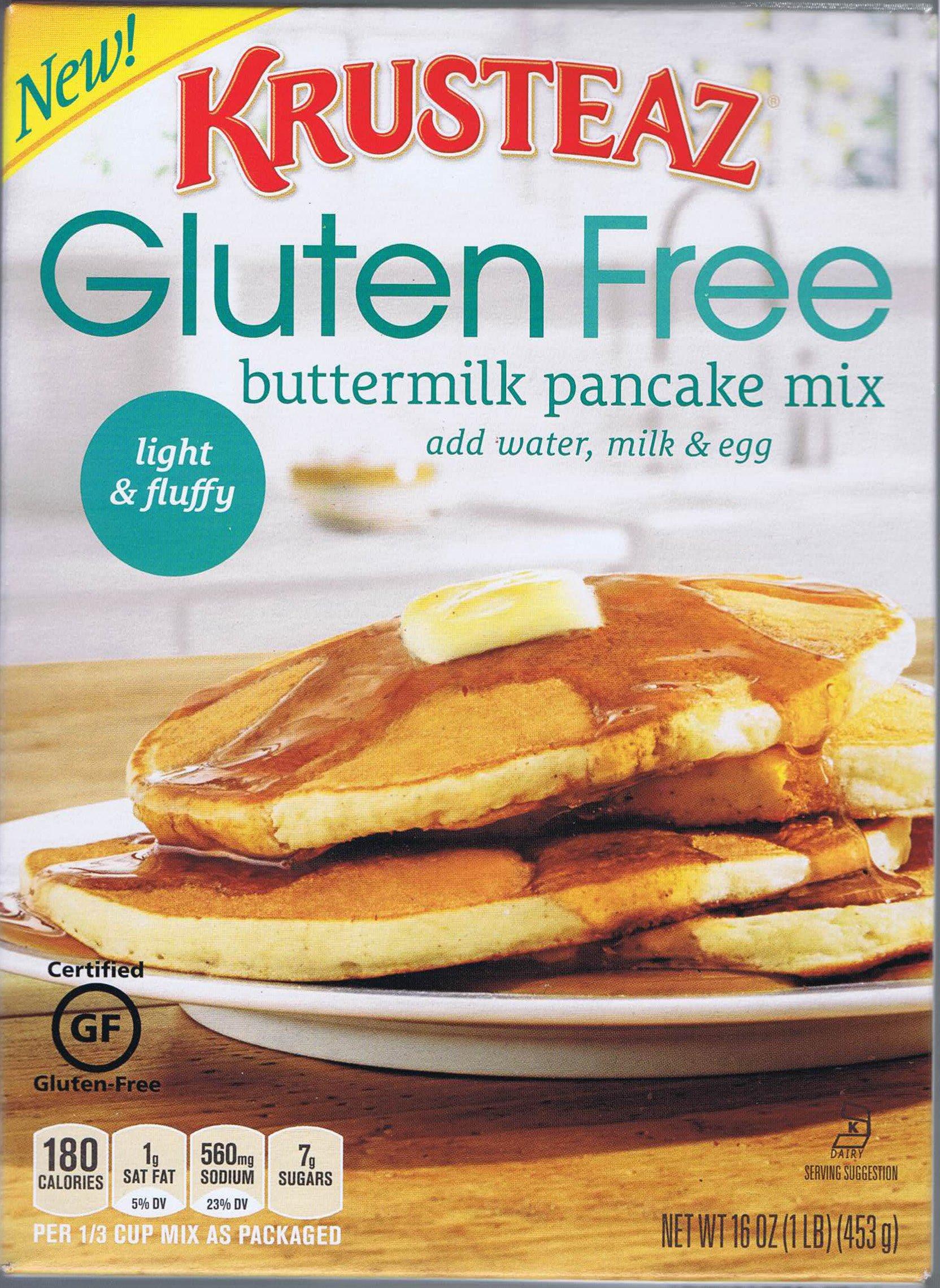 Krusteaz Gluten Free, Buttermilk Pancake Mix, Buttermilk, 16oz Box (Pack of 6) by Krusteaz