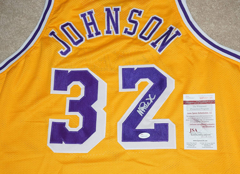MAGIC JOHNSON Signed LA LAKERS #32 JERSEY + JSA Witness COA MiamiCollectibles