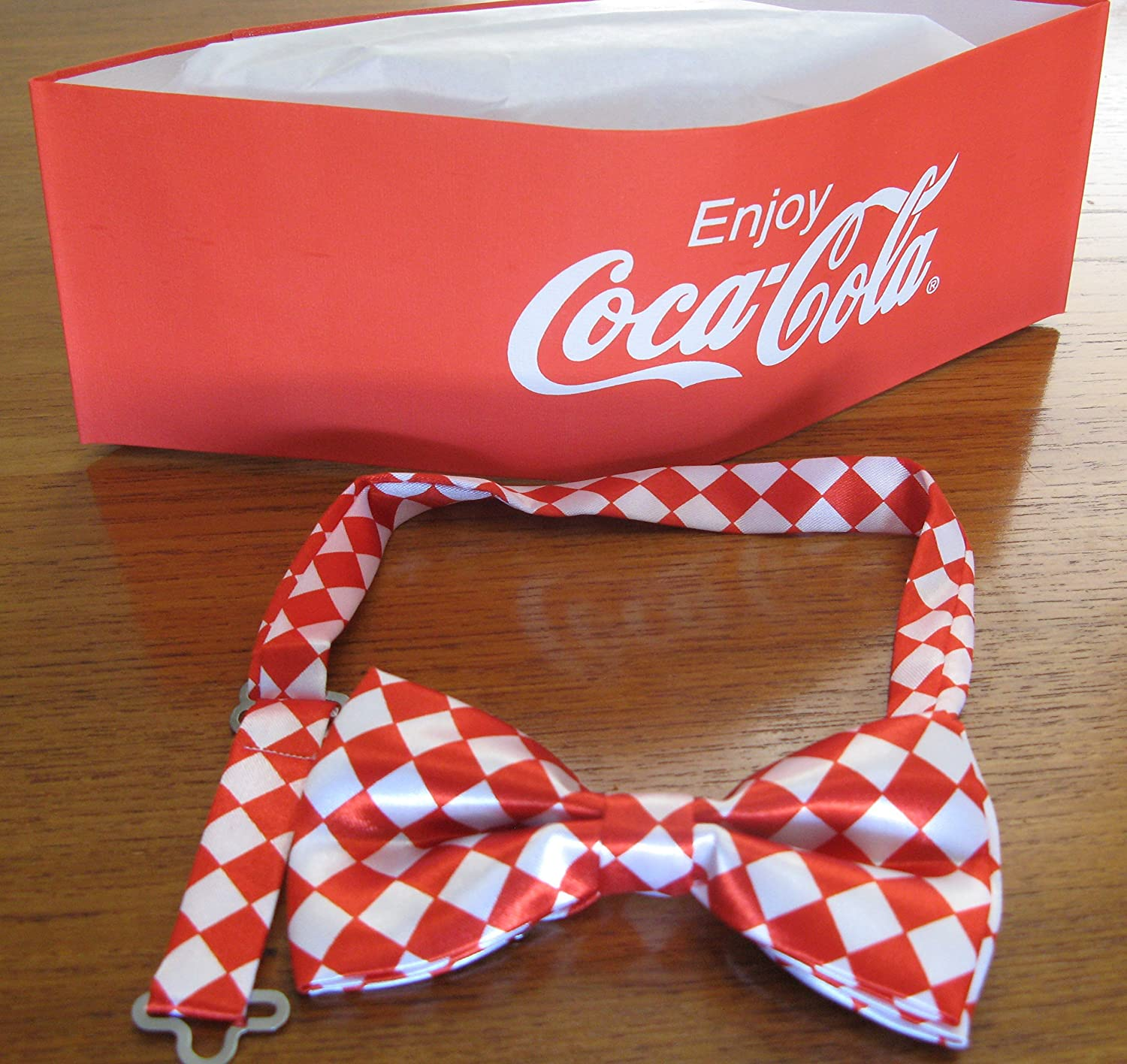 Coca Cola Soda Jerk Paper Party Hat Bowtie