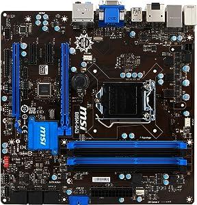 MSI B85M-G43 Desktop Motherboard - Intel B85 Express Chipset - Socket H3 LGA-1150 - Micro ATX - 1 x Processor Support - 64 GB DDR3 SDRAM Maximum RAM - CrossFireX Support - Serial ATA/600, Serial ATA/300 - CPU Dependent Video - 2 x PCIe x16 Slot - 2 x USB 3.0 Port - HDMI - B85M-G43