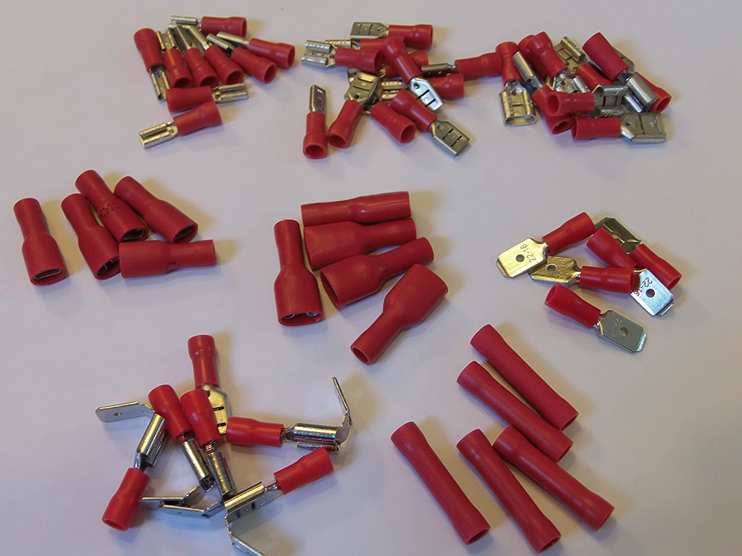 cable terminal crimp connections pack of 55 great for speakers car home repires