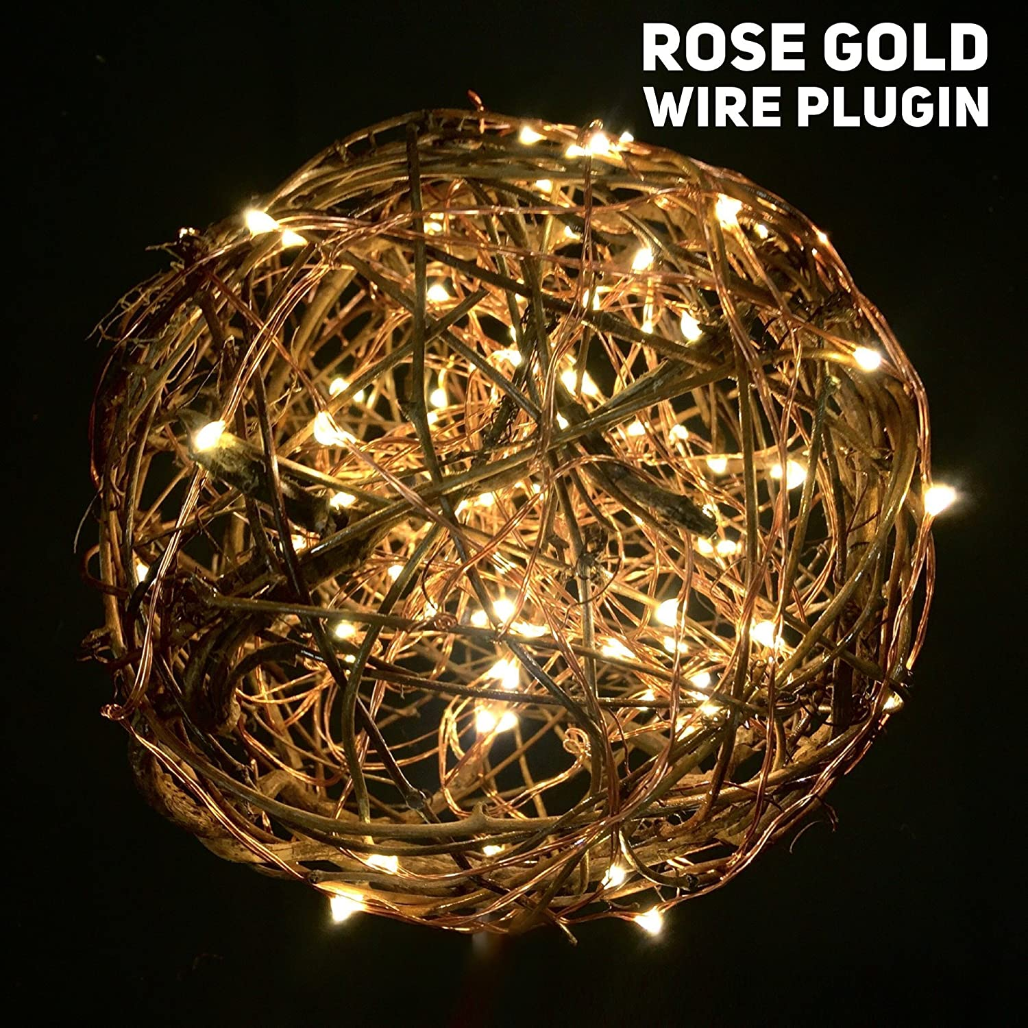 Rose Gold Wire With Plug Mason Firefly Lights Craft Clips Wiring A To Light Fixture Free Shipping