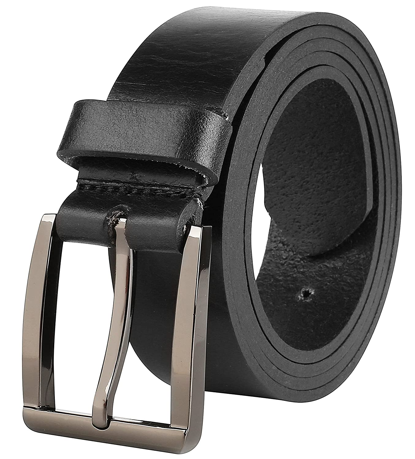 USA Mens Casual Full Grain Classic Leather Dress Belt For Jeans,1.25 Wide