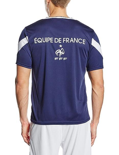 FFF EP3501 - Camiseta de Manga Corta para Hombre, diseño réplica del Equipo de Francia: Amazon.es: Deportes y aire libre