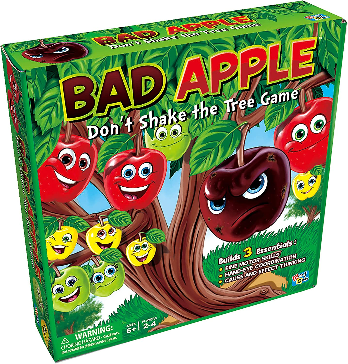 Getta1Games Bad Apple Don't Shake The Tree Game - Family Strategy Game - Earn Points by Picking The Good Apples