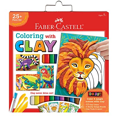 Faber-Castell Do Art Coloring with Clay - Modeling Clay Art for Kids: Toys & Games