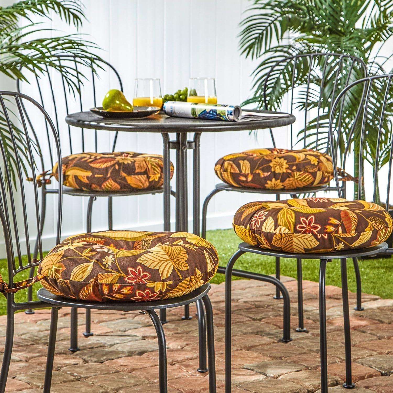 Amazon.com: Greendale Home Fashions 15 in. Round Outdoor Bistro ...