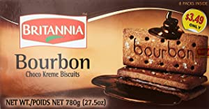 Britannia Bourbon Chocolate Flavoured Cream Biscuits 800 G