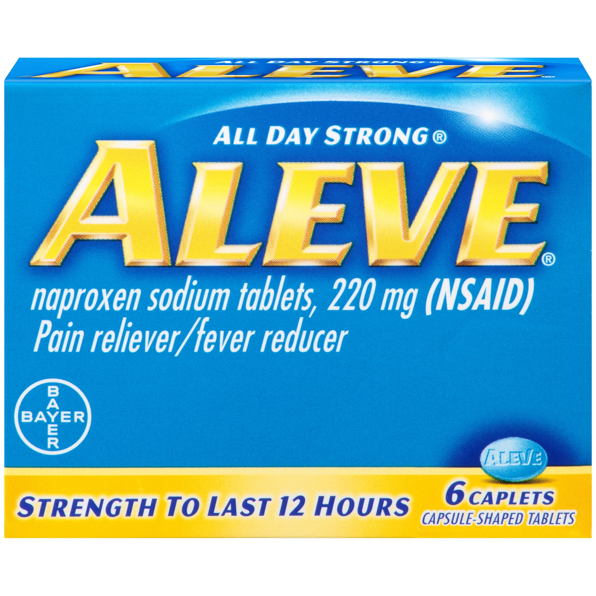 Aleve Naproxen Sodium Caplets, 6 Count