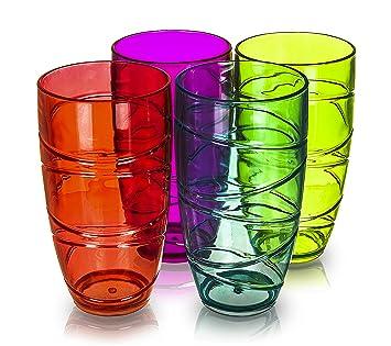 Juego De 4 Vasos De Plastico Acrilico Para Fiesta Baile O Picnic