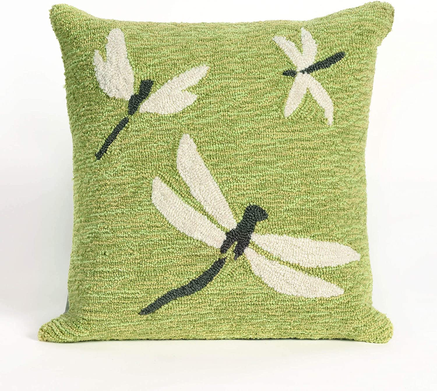 Liora Manne Whimsy Summer Dragon Indoor Outdoor Pillow, Green