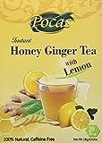 Pocas Instant Honey Ginger Tea with LEMON Caffiene Free 18g/0.63oz x 20bags