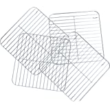 Nickannys Square Non-stick Wire Cooling Racks for Baking-10x10 Chrome Plated- Kitchen Trivets (4 pack)