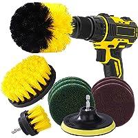 Borrborste och skrubbdynor 10 st borrdrivna rengöringsborstar tillbehör kit för rengöring badkar badrum kök kakel puts…
