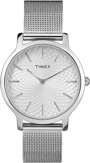 Timex Reloj Analógico-Digital para Mujer de Cuarzo con Correa en Acero Inoxidable TW2R36200