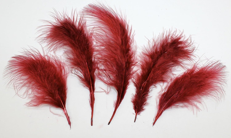 """5 piezas de vino tinto plumas de avestruz sombrerería y manualidades de 4/"""" X 6/"""""""