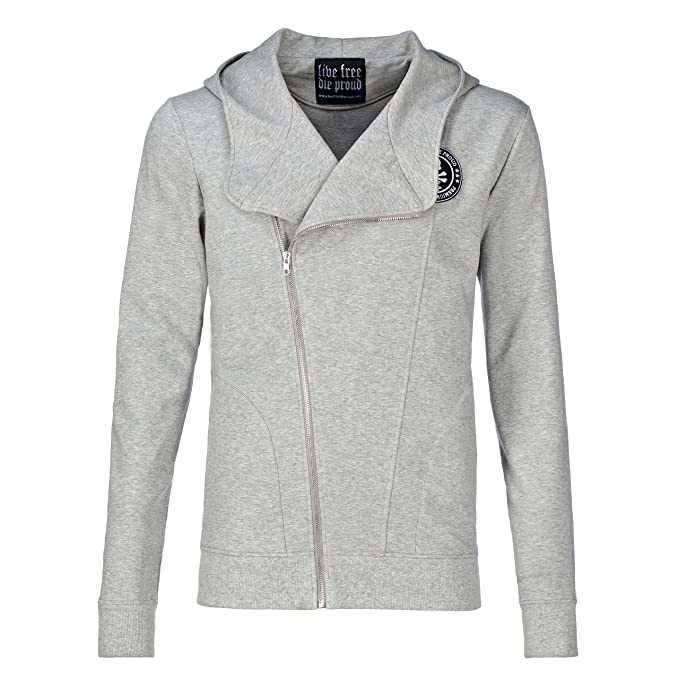 LIVE FREE DIE PROUD - made in hell loved in heaven - Chaqueta - para hombre gris 58: Amazon.es: Ropa y accesorios