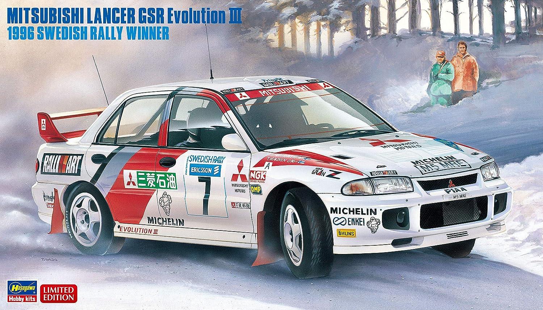 Hasegawa HA20407 1:24 Mitsubishi Lancer GSR Evo III-1996 Swedish Rally Winner Multicoloured