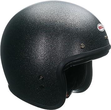 Bell Custom 500 Open-Face Motorcycle Helmet(Solid Matte Black Flake, X-