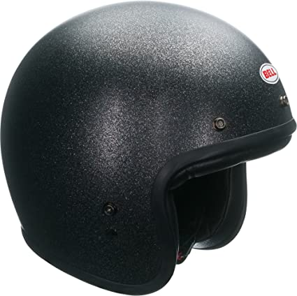 Bell Custom 500 Open-Face Motorcycle Helmet(Solid Matte Black Flake, X-