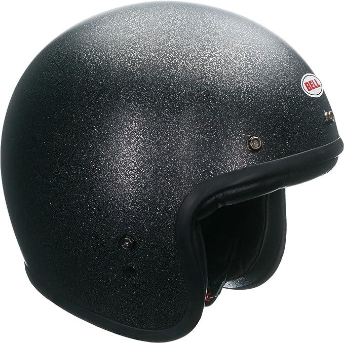 Amazon.com: Bell Custom 500 Open-Face Motorcycle Helmet(Solid Matte Black Flake, X-Large): Automotive