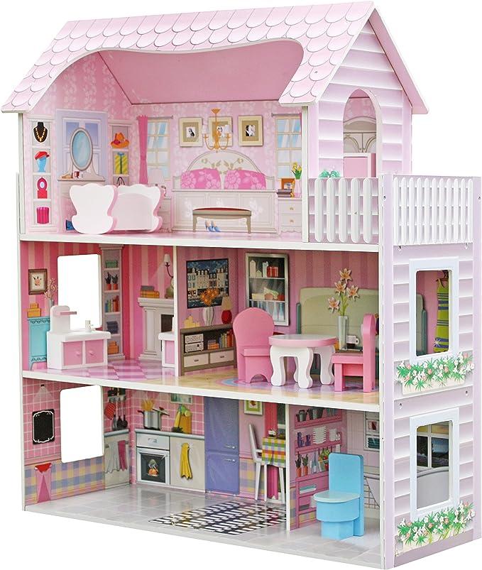 Amazon Es Star Ibaby Casa De Muñecas Con Familia Y Mobiliario Modelo Duplex Juguetes Y Juegos