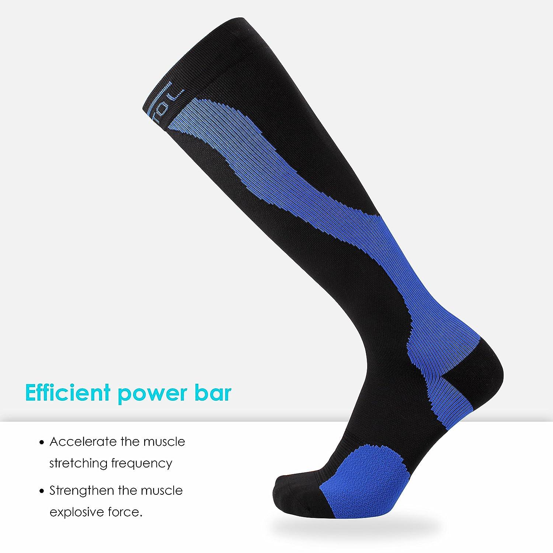 Medias/Calcetines de compresión FEATOL Calcetines funcionales Calcetines hasta la rodilla, compresión graduada: 20-30 mmHg para la recuperación, ...