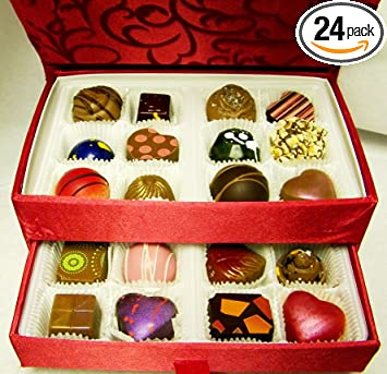 Amazoncom Gourmet Chocolates and Truffles 24 Pieces in a
