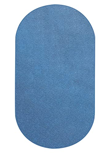 Koeckritz 6 X9 Oval – Cobalt – Indoor Outdoor Area Rug Carpet, Runners Stair Treads with a Premium Nylon Fabric Finished Edges