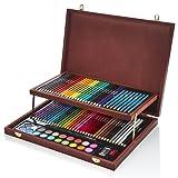 Artworx 91 Piece Art Studio With Wooden Case