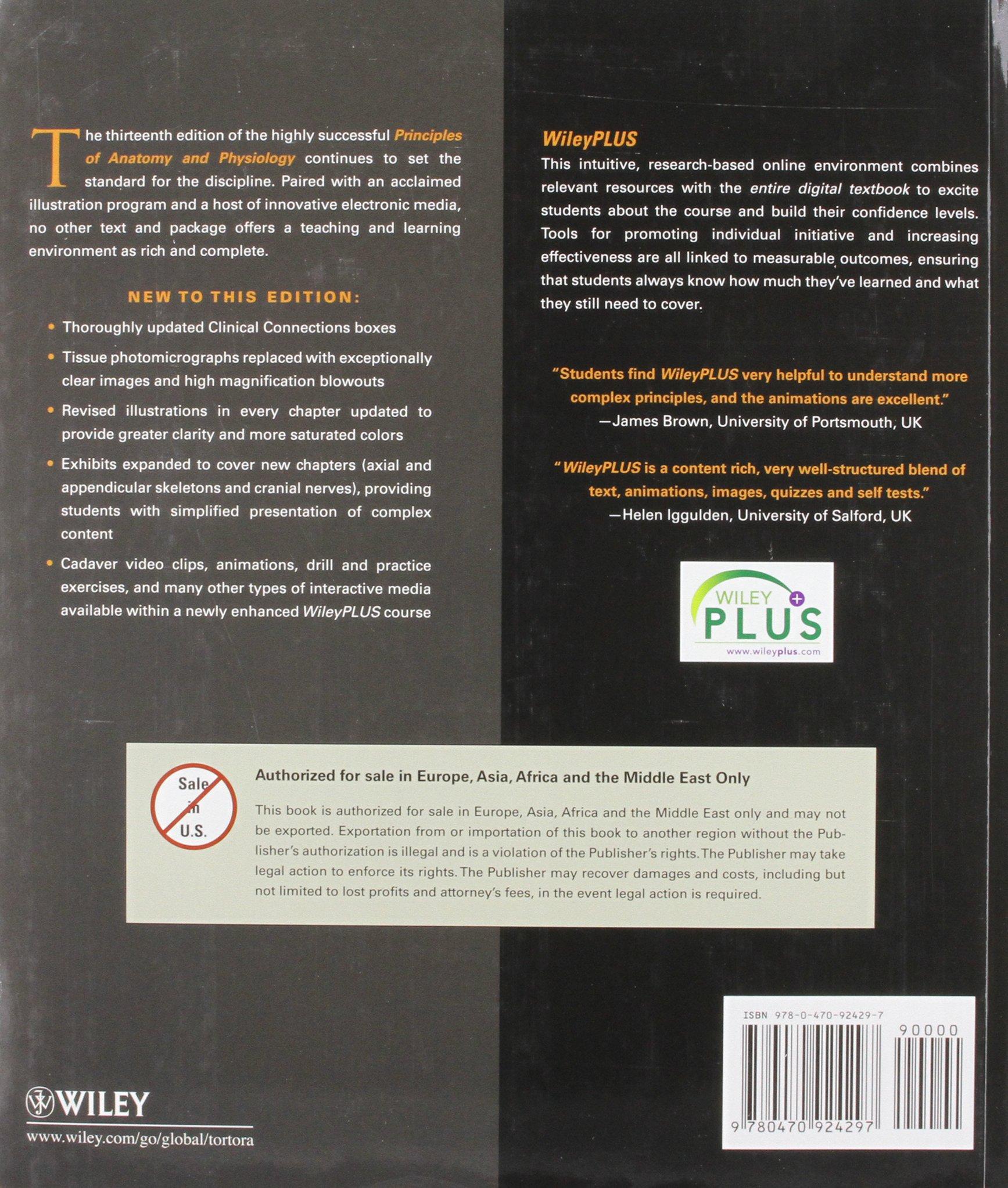 Principles of Anatomy & Physiology 13th: Amazon.co.uk: Gerard J ...