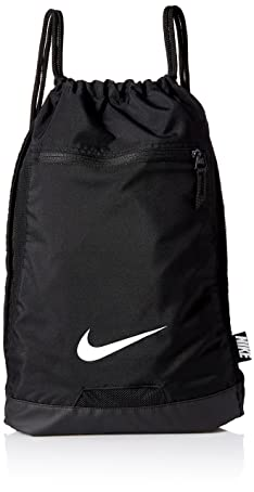 Nike BA5256-010: Mens Black/Black/White Alpha Gym Sack (OS)