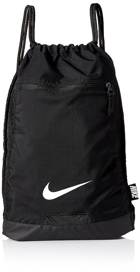8b75a9a077 Amazon.com  Nike Men s Alpha Gym Sack (Black Black White)  Nike ...