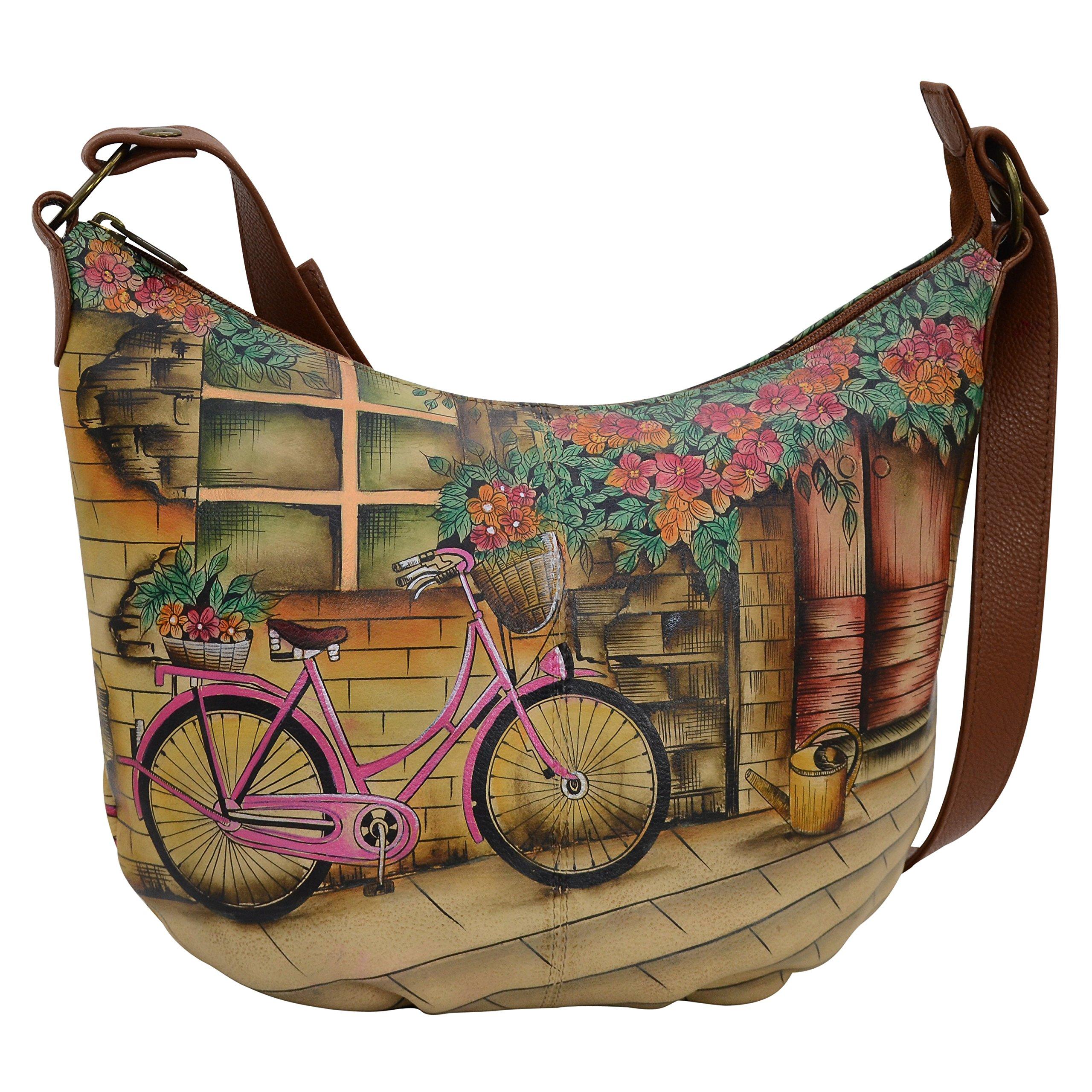 Anuschka Handbags Women's 471 Medium Bucket Hobo Vintage Bike Handbag by ANUSCHKA (Image #1)