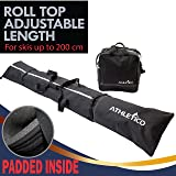 Athletico Padded Ski Bag Combo - Ski Bag & Separate Ski Boot Bag - Store & Transport Skis Up to 200 cm and Boots Up to Size 13 - Padded to Protect All Your Ski Gear and Equipment for Travel
