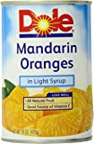 Dole Mandarin Oranges in Light Syrup, 15 Ounce Cans (Pack of 6)