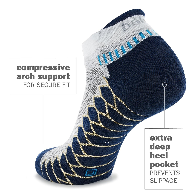 Balega Silver Antimicrobial No-Show Compression-Fit Running Socks for Men and Women 1 Pair Balega Socks 8073-8890-P