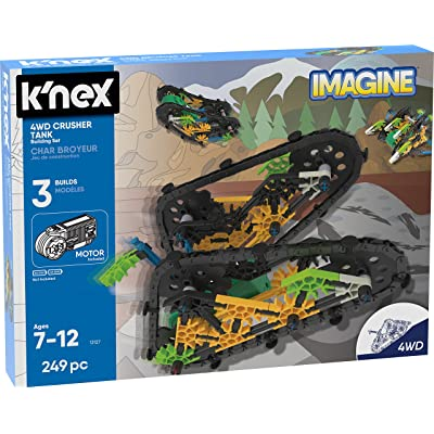K'NEX Imagine – 4WD Crusher Tank Building Set – 249Piece – Ages 7+ – Engineering Educational Toy Building Set: Toys & Games