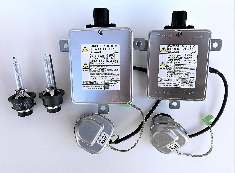 2x New OEM 10-13 Acura MDX Xenon Ballast Igniter /& D2S Bulb Set