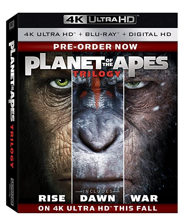 Planet of the Apes Trilogy 4K Blu-ray [US] 915FYxR3KAL._SX600_