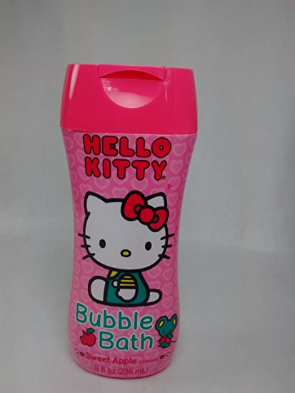 Amazon.com: Hello Kitty Travel Kit Toothbrush with Cap Kids Crest Bubblegum Flavor Toothpaste Mouthwash Bubblegum Flavor Plus Bubble Bath Sweet Apple ...
